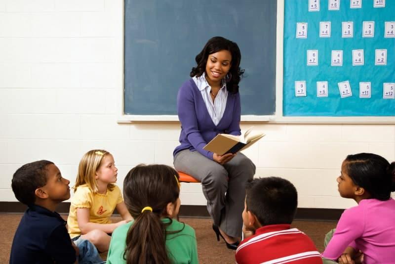Teacher with children in classroom