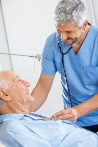 male carer and elderly gentleman