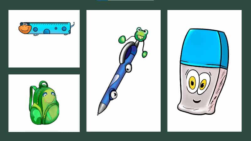 flashcards for school vocabulary theme