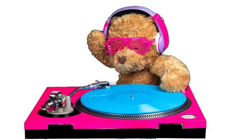 DJ teddy bear