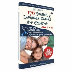 book cover for 176 English Language Games for Children by Shelley Ann Vernon