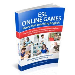 ESL Online Games by Shelley Ann Vernon, book cover