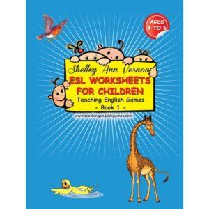 book cover for preschool ESL worksheets